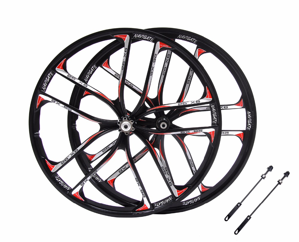 MTB 5 spokes mountain bike wheels magnesium alloy 26 speeds wheels 26 27.5 inches Mountain Bicycle Wheel parts bike rims mtb magnesium alloy wheels 26 inches bicycle wheel disc brake mountain bike bearing wheelset
