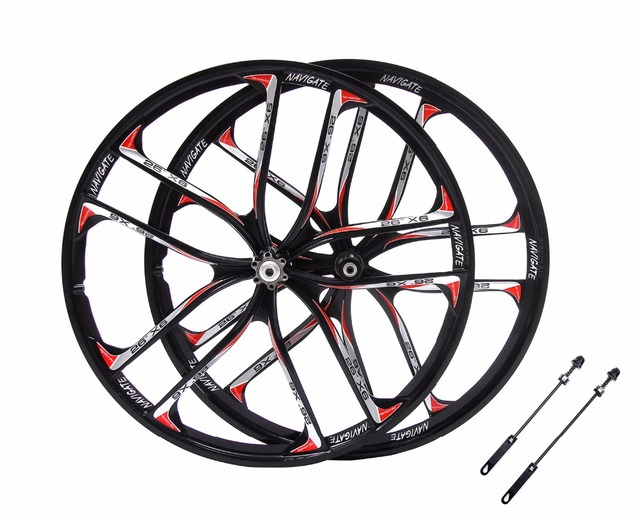 Mtb 5 Spokes Mountain Bike Wheels Magnesium Alloy 26 Speeds Wheels