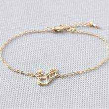 Браслет с животными для женщин настоящий ограниченный Шарм Оригами для ручной работы браслеты с лисами золотой цвет милый подарок