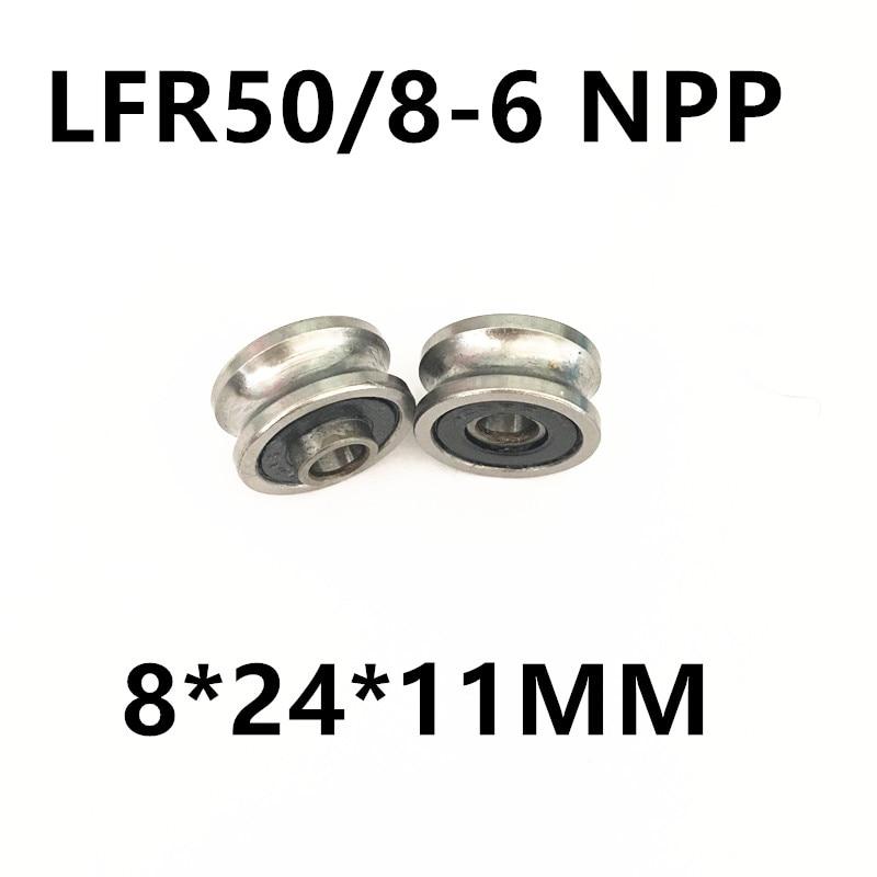 LFR50/8-6 NPP LFR50/8 KDD Groove Track Roller Bearings 8*24*11mm LFR50/8-6 NPP 8*24*11MM прогулочные коляски cool baby kdd 6688gb a