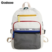 Gradosoo Fashion Backpack Women Schoolbag For Girl Bag Female Multifunctional Travel LBF599