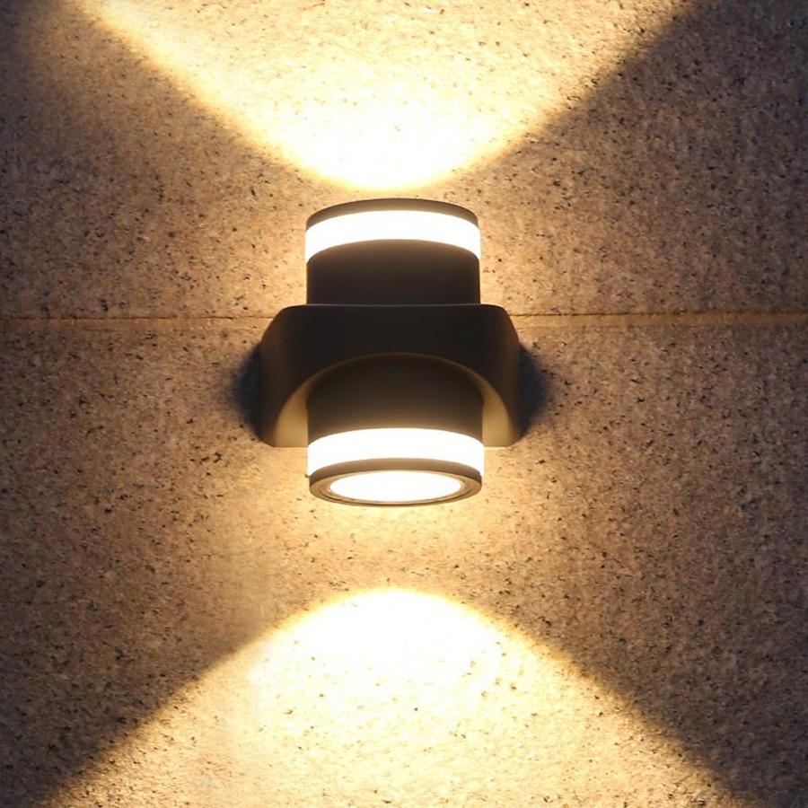 BEIAIDI Up Down Dual-Head 10W COB LED Wall Light Outdoor Villa Porch Garden Corridor Wall Lamp Aluminum Wall Lighting Fixttures up down contemporary outdoor wall lamp 10w 20w 30w cob led wall light ip65 exterior lighting ac100 240v input 2pcs lot