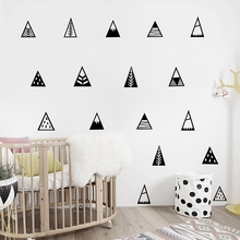 Nordic style Mountains Wall Sticker Home Decor Kids Bedroom Wall Decals Cute Mountain Art Decor