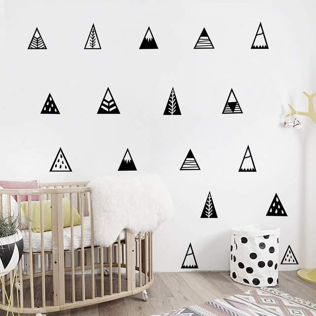 Nordic style Mountains Wall Sticker Home Decor Kids Bedroom Wall ...