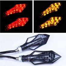 2pcs LED Motorcycle Tail LightsTurn Signal Brake Lights Bendable Flashing font b Motorbike b font Indicator