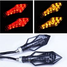 2pcs LED Motorcycle Tail LightsTurn Signal Brake Lights Bendable Flashing Motorbike Indicator Blinker Moto Signal Lamp for Jeep