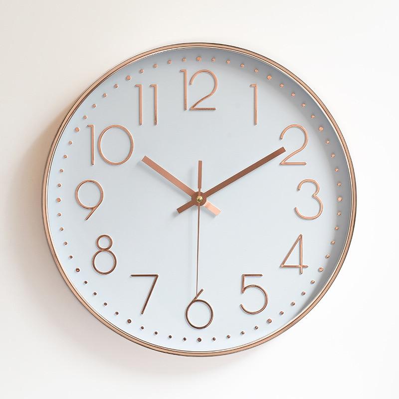 2017 Silent Wall Clock Modern Mute Quartz Wall Watch Diy Antique Designer Clock Home Decor Saat