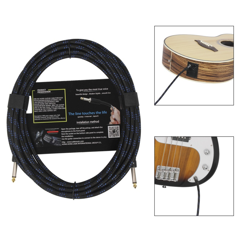 6M Cable Noiseless For Electric Guitar Line Bass Line Musical Instrument Cable Line Copper For Guitar Connection Cable new image