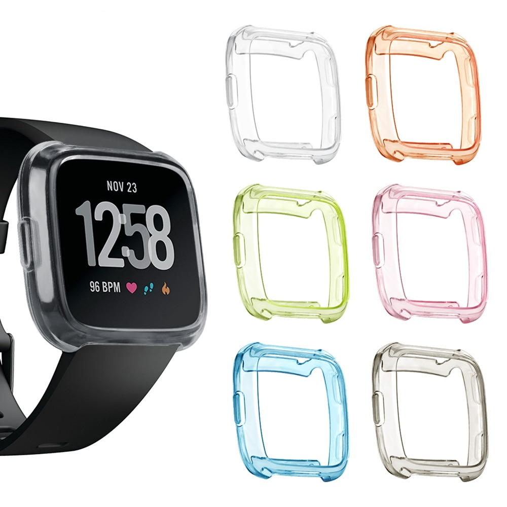 MASiKEN TPU Transparent Protective Case Cover for Fitbit