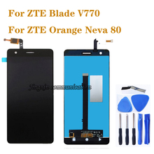 for ZTE Blade V770 LCD display + touch screen digital converter assembly replacement Orange Neva 80 components