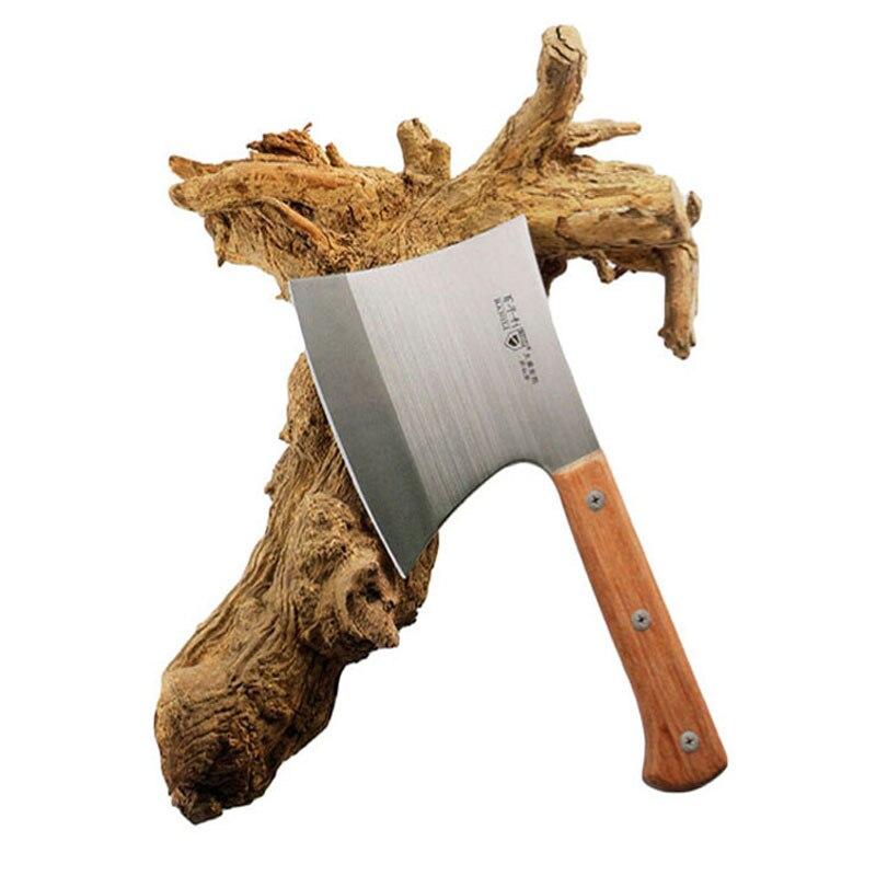 Forgé À La Main En Acier Inoxydable Professionnel Une Hache Chop Couteau D'os Chop Grand Os Boucher Chef Couteau Outil De Coupe Livraison Gratuite