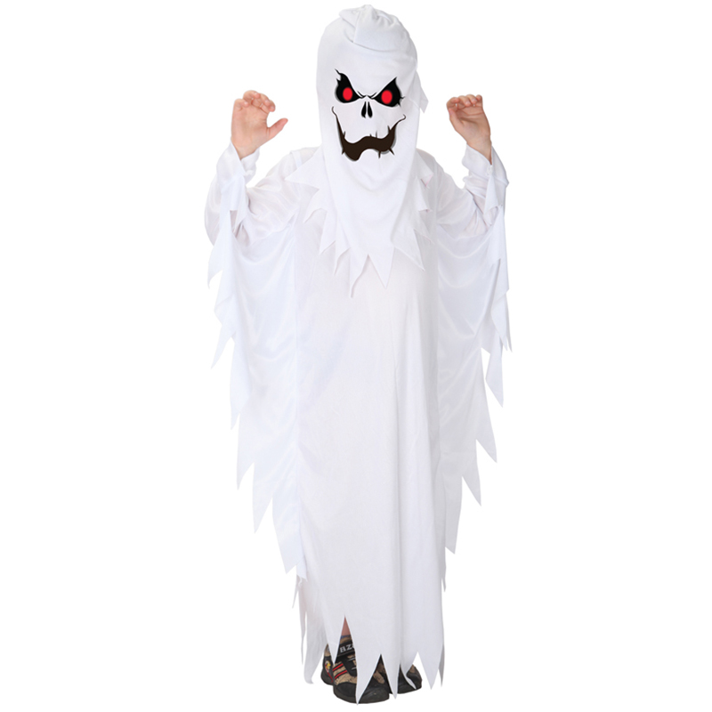Spooky Scary White Ghost Halloween Costume 2