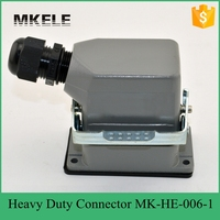 6 Core 16A 400V Factory Direct Heavy Truck Connectors Heavy Duty Terminal Connector Blocks MK HE