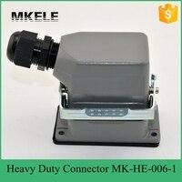6 코어 16a 400 v 공장 직접 대형 트럭 커넥터  헤비 듀티 터미널 커넥터 블록 MK-HE-006-1