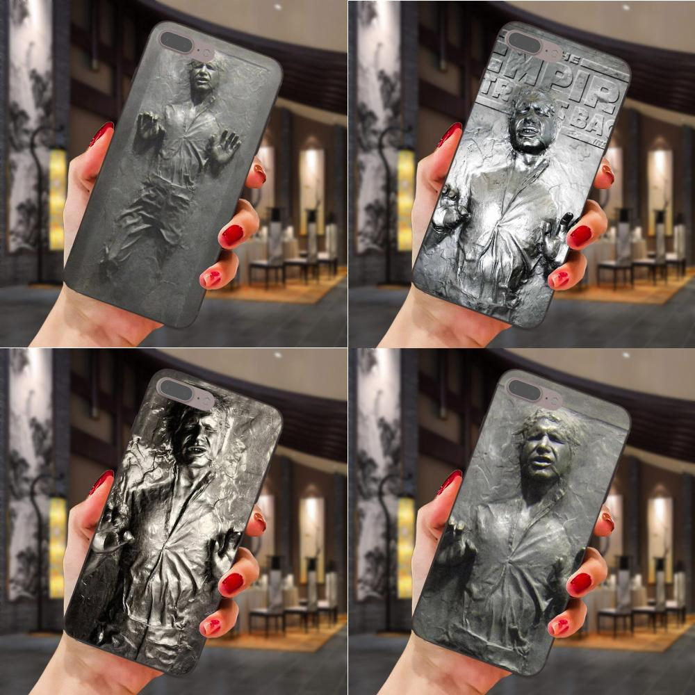 TPU Han Solo Carbonite Star Wars Für Apple <font><b>iPhone</b></font> <font><b>4</b></font> <font><b>4</b></font> S 5 5 S SE 6 6 S 7 8 Plus X XS Max XR image