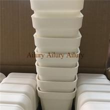 20 قطعة/الوحدة ، Dimater هو 9.3 سنتيمتر ، الأبيض اضافية سميكة البلاستيك إناء زهور مربع الشكل ، المنزل البستنة البلاستيك زهرة وعاء ، سمين وعاء