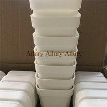 20 pçs/lote, dimater é 9.3 cm, branco extra grosso plástico quadrado vaso de flores, casa jardinagem plástico vaso de flores, carnudo pote