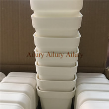20pcs/lot,Dimater is 9.3cm,White extra thick plastic square flower pot, home gardening fleshy pot