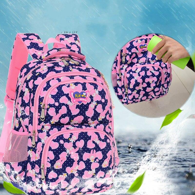 Детские школьные сумки для девочек Водонепроницаемый печати рюкзак дети школьный сумки на плечо конфеты Рюкзак mochila escolar