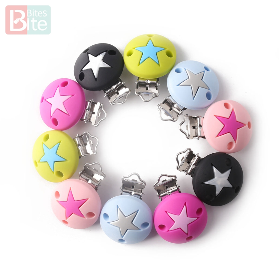 Bite Bites 1Pc Silicone Pacifier Clip Round Baby Teether -4691