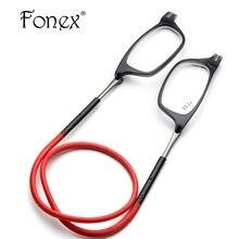 5d08020b8910b4 Verbeterde Magneet Leesbril Mannen Vrouwen Verstelbare Opknoping Hals  Magnetische Voorkant Verziend Brillen + 1.00 + 1.50