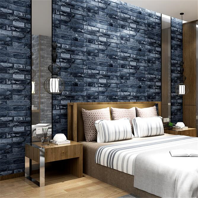 Beibehang Simulation Brick Blocks PVC Chinese Clothing Store Wallpaper Living Room Background Hotel Red