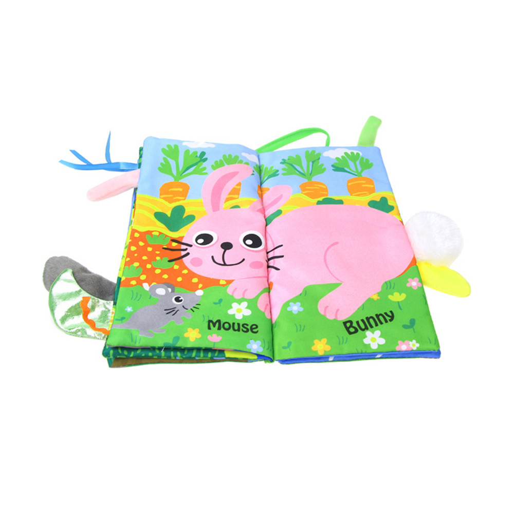Intelligent Development Jungly Tails Soft Cloth Preschool Toddlers Toy Book