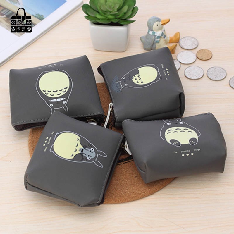 1 pcs RoseDiary lovely totoro PU waterproof coin purses zero wallet students&girl women change purse,lady zero wallets bag