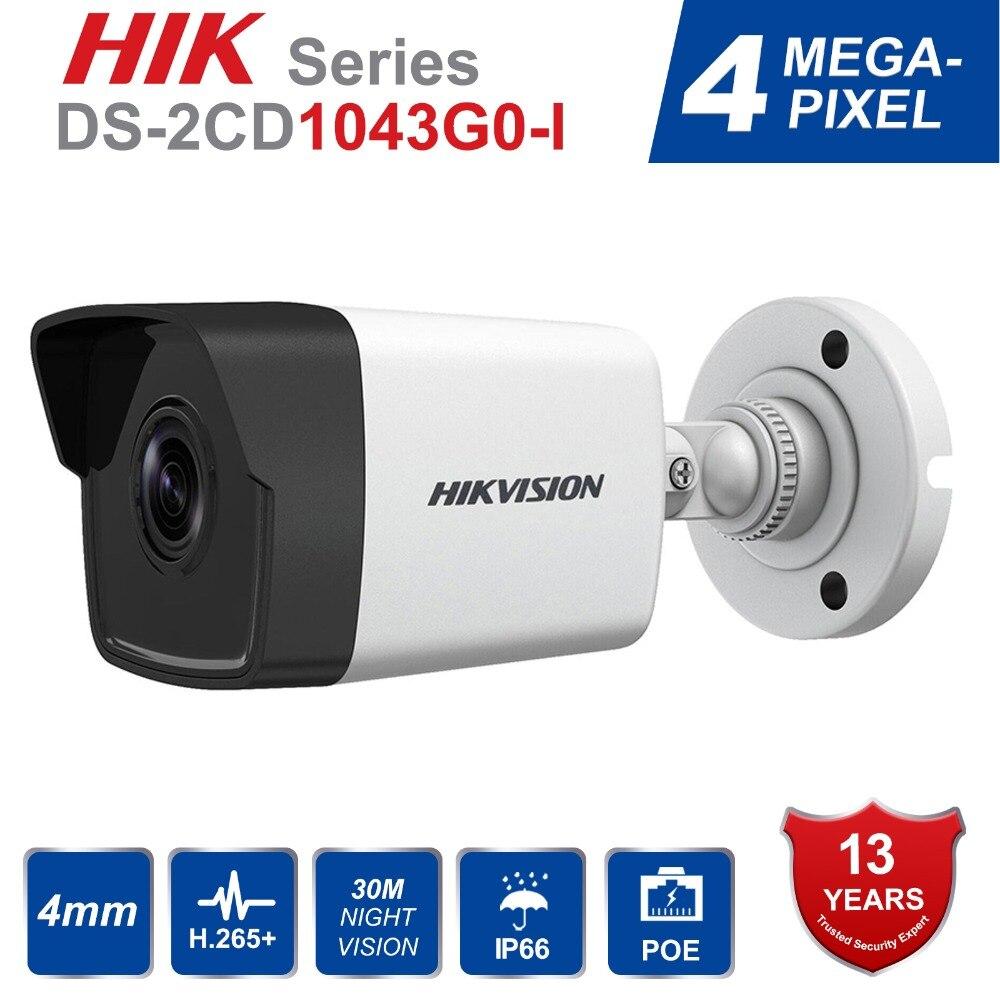 Hik Original Surveillance Camera DS 2CD1043G0 I 4MP IR Network Bullet IP Camera POE H 265