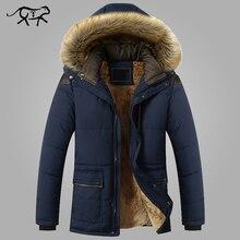 Chaqueta de invierno hombres marca la moda de nueva llegada Casual Delgado grueso caliente hombres abrigos Parkas con capucha abrigos largos ropa masculina