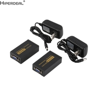 HIPERDEAL 1080P VGA Video Audio Extender Single Sender Receiver Over RJ45 CAT5e/6 100M Oct30