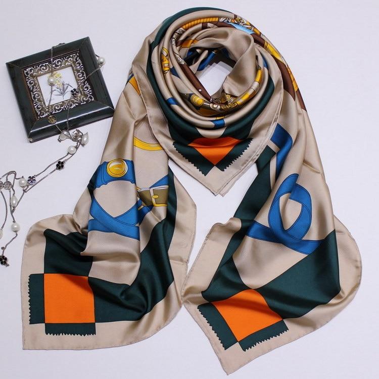FLIGHT OF THE WINDHORSE Print Pure Twill Silk Surprise Scarf Big Square Scarves Shawl Match NEW Neck Wear Accessory FJ100