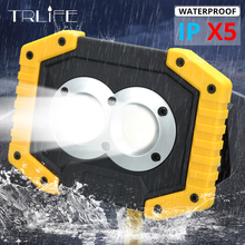 100W LED Work Light Lamp Portable Spotlight Rechargeable Searchlight Latern Flashlight By 18650 /AA Battery For Hunting Camping yupard smd led flood light spotlight searchlight outdoor camping fishing flashlight 3 2200mah 18650 rechargeable battery charger