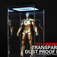 1:6 DIY transparent dust proof box/display case with light F 12 figure