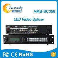 Видеостена контроллер 4 К видео масштабирования переключатель многооконный светодиодном экране Switcher AMS SC358 Поддержка 4 отправки карты