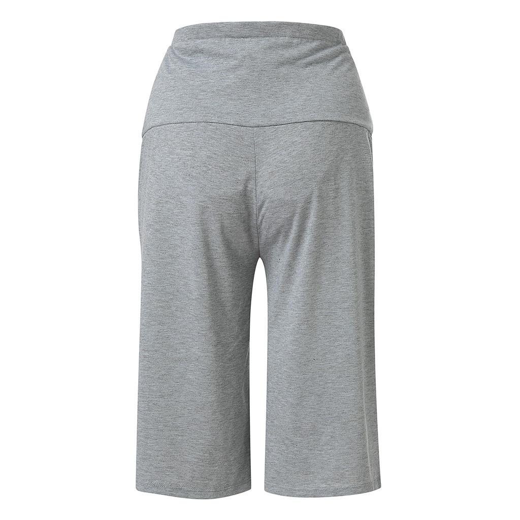 dc59cb93fed Maternity clothes Women s Maternity Wide Straight Versatile Lounge Pants  Stretch Pregnancy Trouser women clothes L327