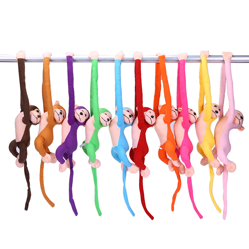 10Pcs/Pack 70cm Plush Long Arm Tail Monkey Curtain Pendants Baby Comforting Toy Stuffed Doll Birthday Christmas Gift For kids super cute plush toy dog doll as a christmas gift for children s home decoration 20