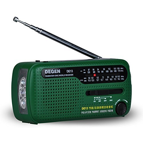 Portable D'urgence Solaire Manivelle AM FM Radio avec LED lampe de Poche Téléphone portable Chargeur Manivelle Plein Bande De Charge