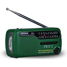 цена на Portable Emergency Solar Crank AM FM Radio with LED Flashlight Cell Phone Charger  Crank Full Band Charging