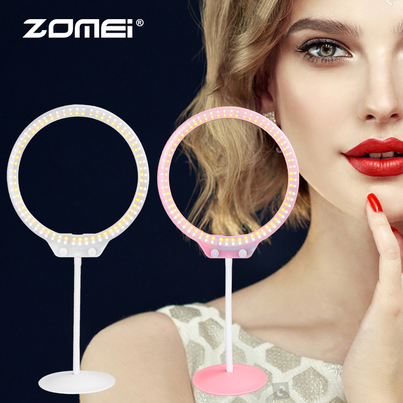 Makeup Ring And Lights: ZOMEI 10 Inch ZM128 Live Fill Light Beauty Ring Light