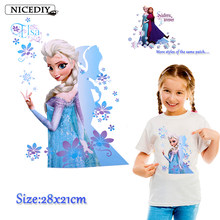 Nicediy Heat Transfer Vinyl Sticker Patch Iron On Transfer For Clothes Angel Princess Patches For Clothing T-shirt Washable DIY(China)