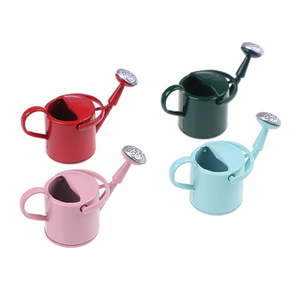 Image 2 - New Arrival 1/12 Metal Watering Can Garden Miniature Decoration For Children Kids Dolls Acces Dollhouse Miniature Furniture