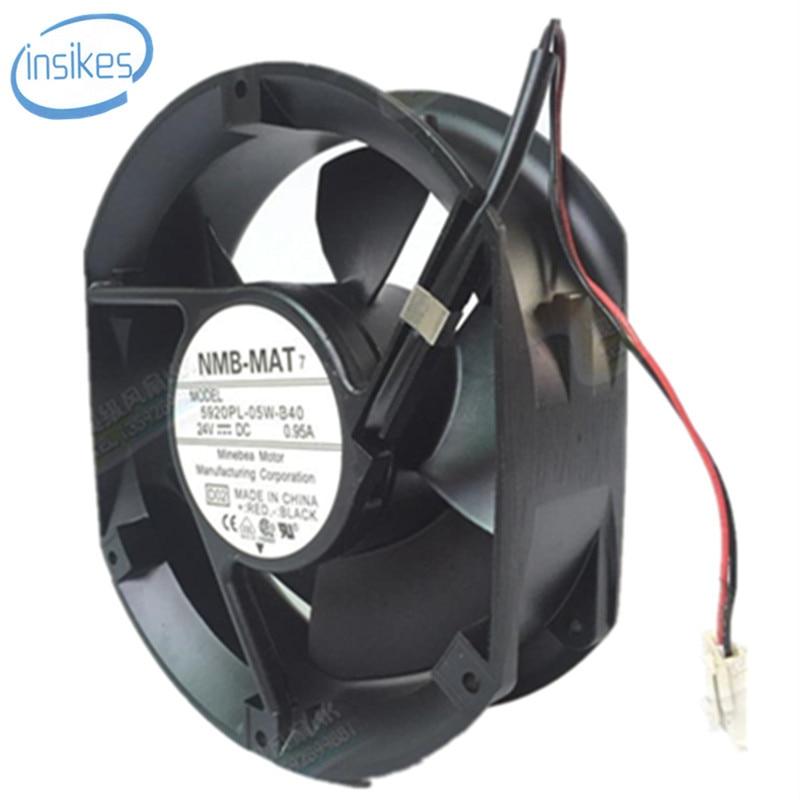 5920PL-05W-B40 Waterproof Cooling Fan DC 24V 0.95A 22.8W 3350RPM 17250 17cm 172*150*50mm 2 Wires