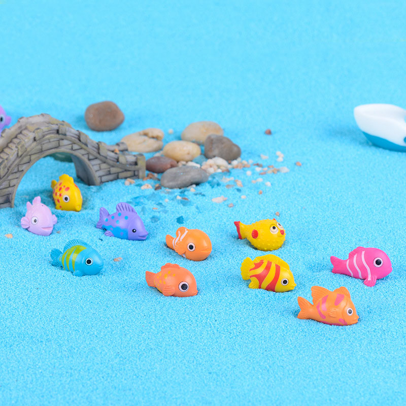 20 Pcs  Mixed Shapes Sea Fish  Animals Home Micro Fairy Garden Figurines Miniatures Home Garden Decor DIY Accessories