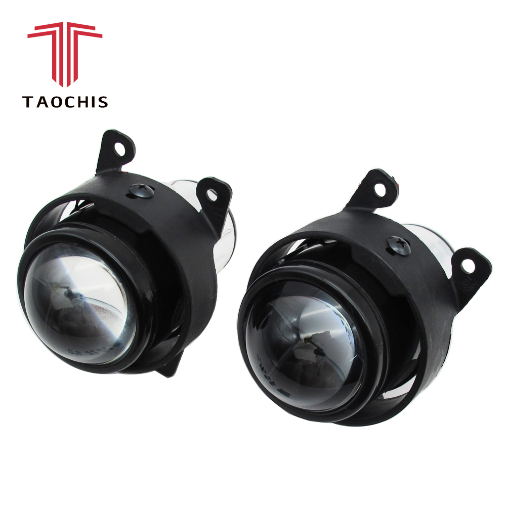 TAOCHIS Car Lamp HID Bi-xenon Fog Light Projector Lens Retrofit For Ford Citroen Subaru Renualt Suzuki Swift PEUGEOT OPEL H11 fog light lens for ford 2 5 full metal bi xenon projector lens auto h11 fog light