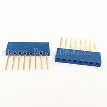100pcs Blue 2.54mm 8P Stackable Long Legs Female Header For Arduino Shield