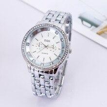 купить Relogios2018 New Fashion Luxury brands DQG Crystal Men Quartz watch Silver Stainless Men Women Sport Watch Hot Sale Reloj mujer дешево