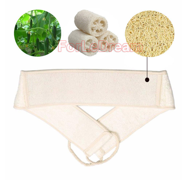 1pc Natural Loofah Massage Sponge Shower Body Cleaning Tool Long Toiletries Scrubber Ponge Brush Pad Towel Horniness Remover 1