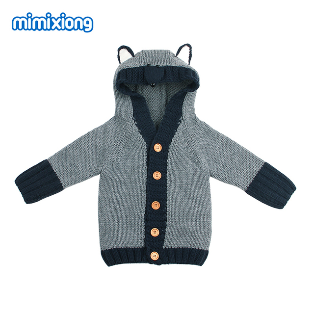 c7d84416ac03 Newborn Boys Sweaters Cardigans Clothes Cute Fox Knitted Baby Girls ...