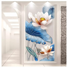 beibehang Beautiful 3D stereo relief flowers simple papel de parede 3d wallpaper magnolia fashion interior